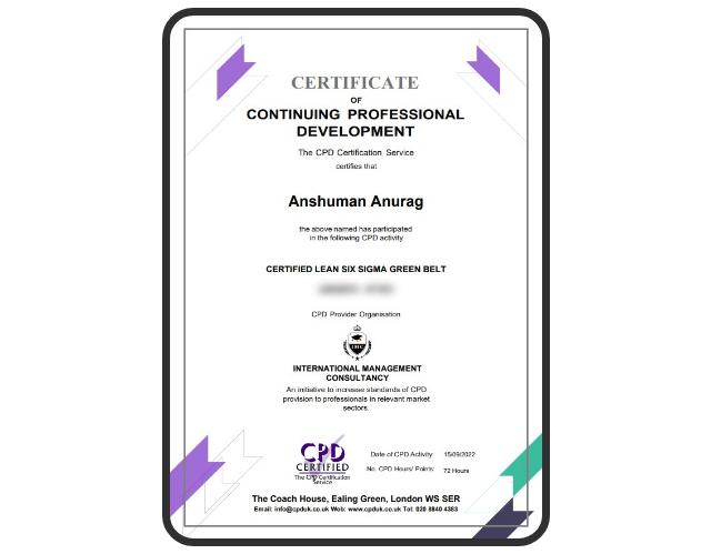 CPD Membership Certificate